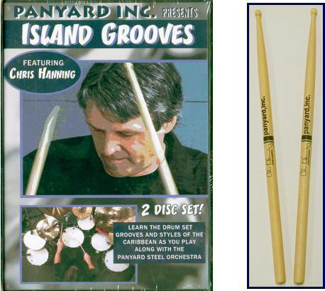 Island Grooves DVD with Drumsticks