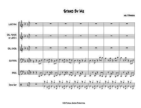 Sheet Stand by me Deluxe Stand by me Bass Sheet