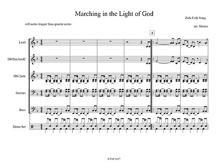 """Marching in the Light of God"" by Brad Shores"
