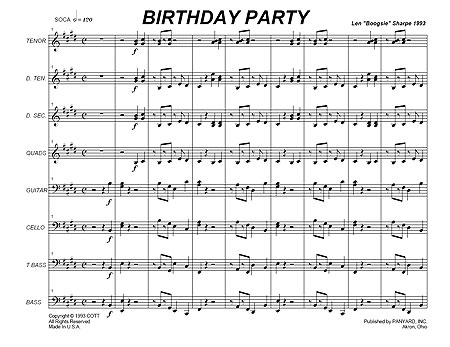 """Birthday Party"" by Len ""Boogsie"" Sharpe"