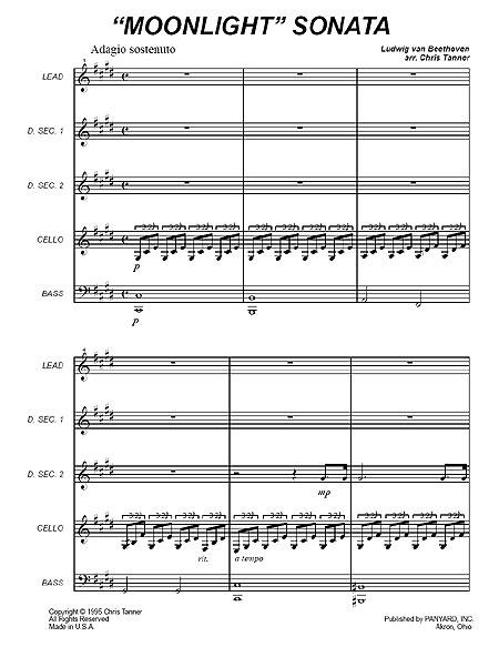 Moonlight Sonata Piano Sheet Music. quot;Moonlight Sonataquot;