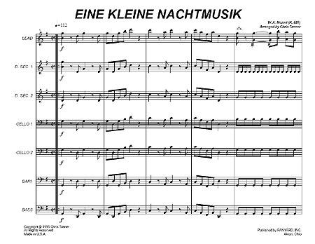 an analysis of the 1st movement to mozarts eine kleine nachtmusik Mozart: serenade 'eine kleine nachtmusik' beethoven: music to goethe [lp   little bit off interpretation wise in the first movement, but is otherwise very sturdy.