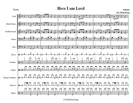 """Here I am Lord"" by Schutte"