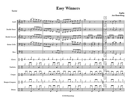 """Easy Winners"" by Scott Joplin"