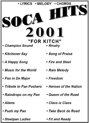 """2001""-Soca Hits Entire Book"